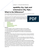 Cpk Ppk Process Capability