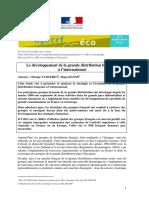 Le Développement de La Grande Distribution Française