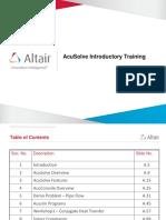 AcuSolve Intro Training V18b