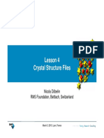 Lesson 4 Crystal Structure Files