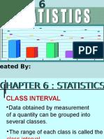 Chapter 6 Statistics III