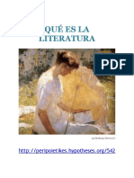Peripoietikes_qué Es La Literatura