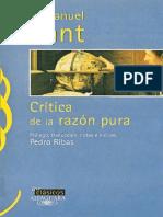 KANT - Critica de La Razón Pura