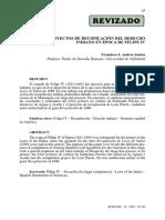 Santos Francisco.- Los proyectos de recopilación del derecho indiano en época de felipe IV.pdf