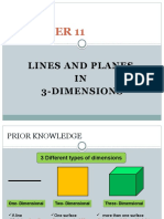 Chapter 11 Lines and Planes in 3 Dimensions