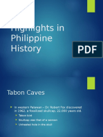 Highlights in Philippine History