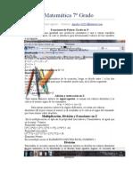 Guía de Matemática 7º Grado
