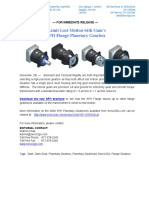 Gam SPH Planetary Gearbox New Product Press Release