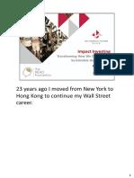 20160624 Handouts - Impact Investing
