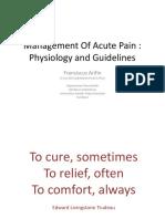 Management of Acute Pain