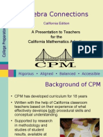 CPM CA Algebra Connections Overview
