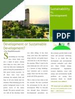 Sustainability vs Development