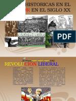 Etapas Historicas en El Ecuador en El Siglo
