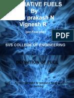 Alternative Fuels - Vignesh(Svs College)