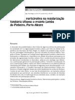 Democracia Participativa Na Regularização Fundiária Urbana - o Projeto Lomba Do Pinheiro, Porto Alegre
