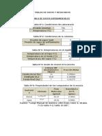 Tablas de Datos y Resultados, Ejmplo d Calculo