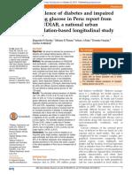 Prevalencia Diabetes Peru