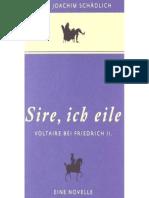 «Sire, Ich Eile …»_ Voltaire Bei Friedrich II. Eine Novelle (German Edition)