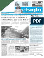 Edición Impresa Elsiglo 10-07-2016