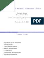 Applied Linear Algebra Review