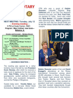 Moraga Rotary Newsletter - July 5 2016