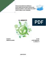 Trabajo conservación del ambiente