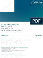 Vonovia Q12016 EarningsCall