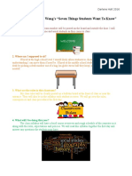 seven things students want to know for website