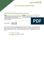 Einfuhrung Excel Lektion 1
