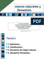 Desastres de Origen Natural733