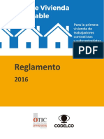 Reglamento 2016 Fondo de Vivienda