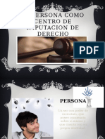 La Persona Como Centro de Imputacion de Derecho
