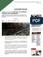 Marcha convocada por la Confech finalizó sin incidentes | Nacional | LA TERCERA