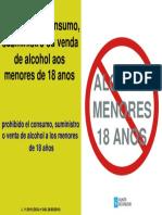 Carteleria Prohibida Venta de Alcohol a Menores