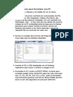Pasos Para Formatear Una PC (1)