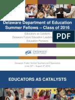 DDOE Summer Fellows 2016