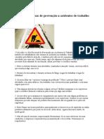 18 Dicas Preciosas de Prevenção a Acidentes de Trabalho