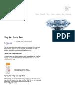 Day 16_ Basic Text _ - Illustrator Tutorials & Tips