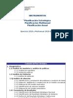 Instrumentos de Planificacion 2015