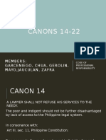 Canons 14 - 22