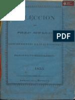 Colección de Piezas Oficiales concernientes a las cuestiones Paraguayo-Brasileras Imp. de *La República* año 1855