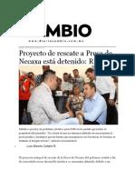 09-02-2016 Diario Cambio - Proyecto de rescate a Presa de Necaxa está detenido; RMV