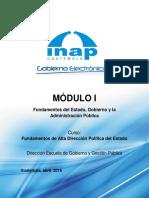 Módulo I Fundamentos Del Estado, Gobierno y Administración Pública
