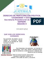 Presentación Derecho de Participación Política Ciudadana y Social SEPREM (2)