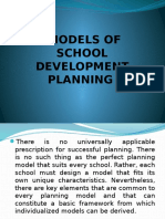 Models of School Development Planning