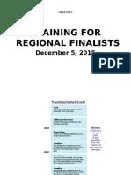 Newswriting for Regional Finalists