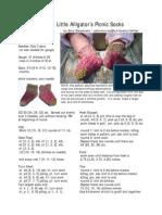 sweet little alligator's picnic socks