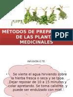 Métodos de Preparación de Las Plantas Medicinales
