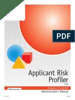 Applicant Risk Profiler Test Manual.pdf