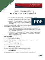 Arquitectura Plan Estudios 0